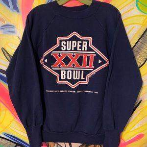 Vintage '87 Super Bowl XX Spellout Crewneck Sz M